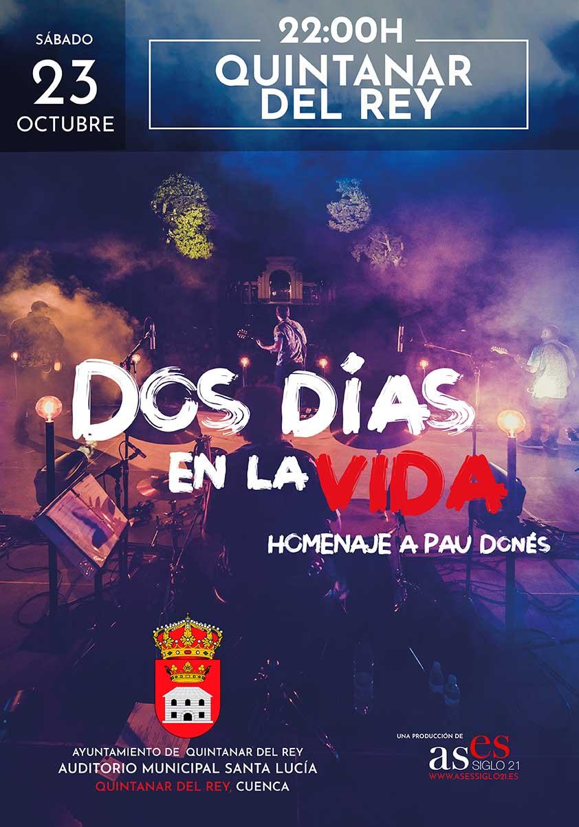 Dos días en la vida: homenaje a Pau Donés - Quintanar del Rey
